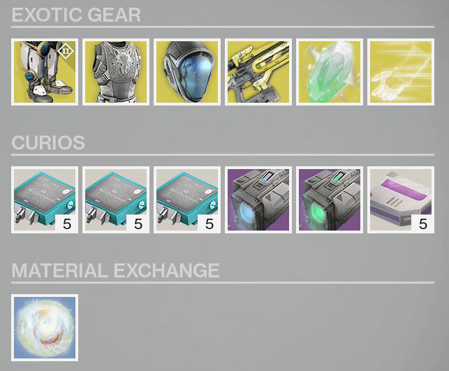 What is xur selling today toffkey